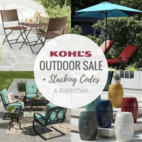 Kohl S Patio Accessories Stacking Kohl S Patio Outdoor Decor Coupon Codes Kohl