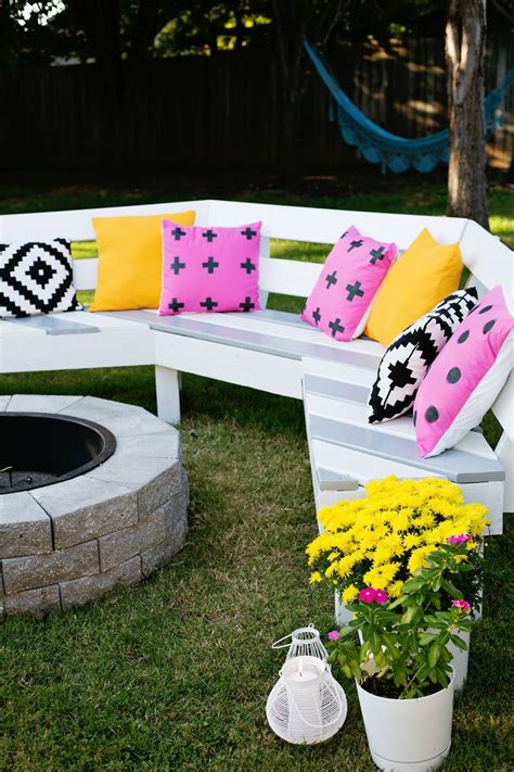 diy fire pit bench ana white diy curved fire pit bench featuring a beautiful mess diy projects