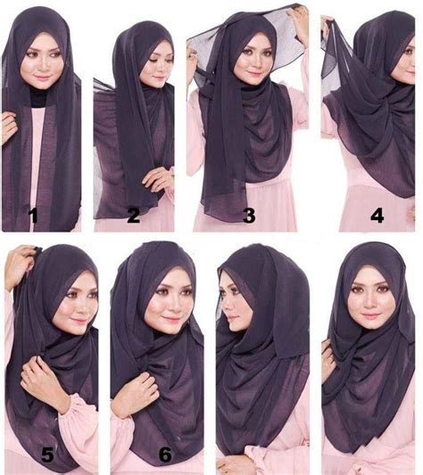 tutorial hijab in style hijab tutorial in the casual style hijabiworld