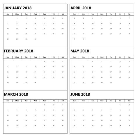 Calendar 6 Months Per Page