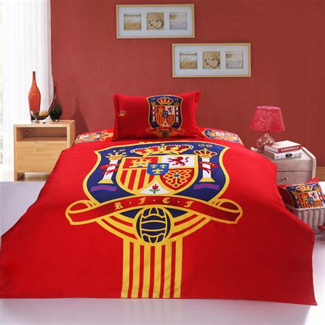 bed sheets in spanish the spanish team bedding sets boys bed sheets 100 cotton christmas duvet cover sets in