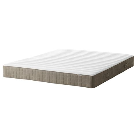 Hamarvik Sprung Mattress Firm Dark Beige Standard King Ikea Bed Mattress Ikea