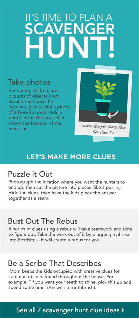 idea hunt creative scavenger hunt clues for kids care com community