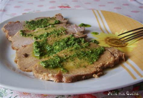 salsa di sedano verde lonza in salsa verde nella cucina