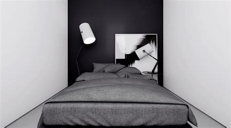 dark feature wall bedroom 4 monochrome minimalist spaces creating black and white magic