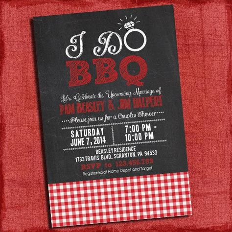 coed wedding shower invitations printable quot i do quot bbq barbecue couples coed wedding shower