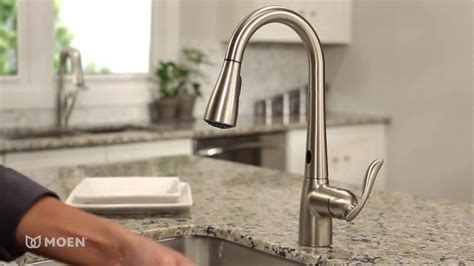 Rating Kitchen Faucets by Moen Arbor With Motionsense One Handle High Arc Pulldown