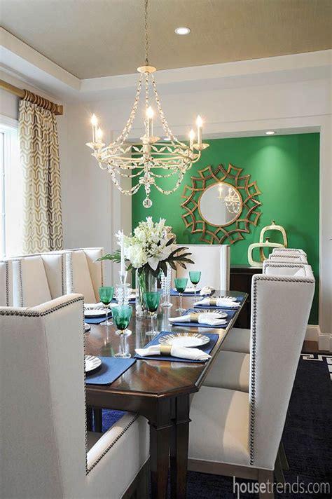 interior design trends   green dining room