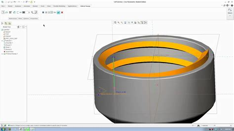 solidworks tutorial bottle cap creo 2 tutorial helical sweep bottle cap screw youtube