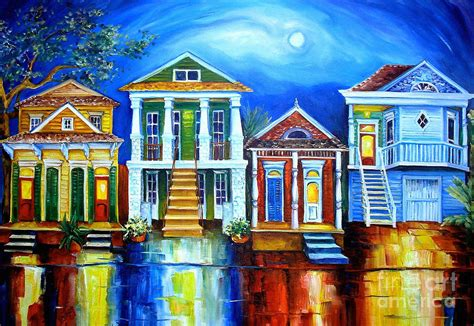 New Orleans Artwork For Sale by Moon Over New Orleans By Diane Millsap
