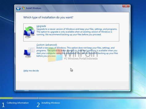 installing xp and wordpress on windows 7 cara instalasi windows 7 lengkap beserta gambar winpoin
