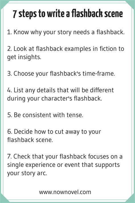 write your story turn your into fiction in 10 easy steps books how to write a flashback 7 key steps now novel