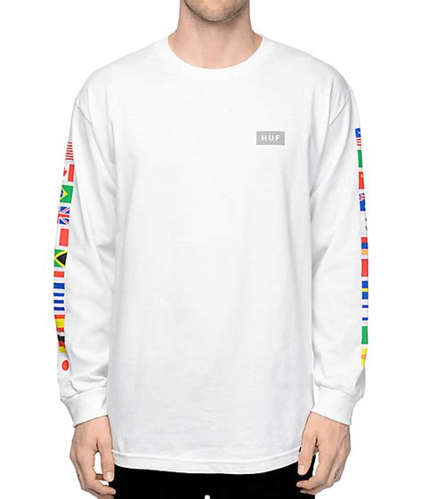 Tshirt Longsleeve huf flags white sleeve t shirt