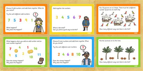 themed stories nz maths pirate themed ks1 maths challenge cards challenges numeracy