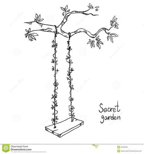 swing illustration tree with a swing stock vector image of forest swing