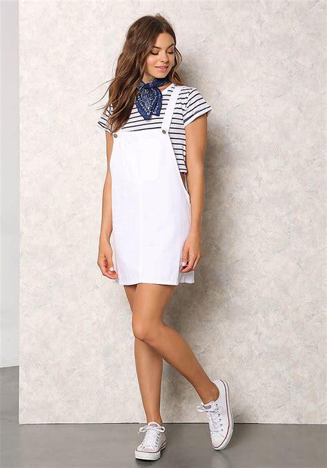 White Overall Dress white denim thin racerback overall dress