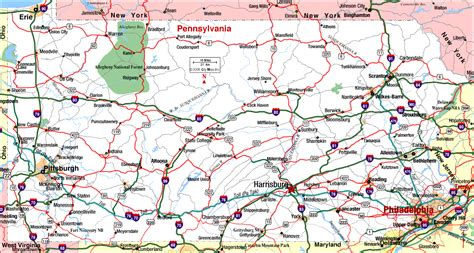 map of pennsylvania map of eastern pennsylvania cities