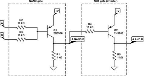 npn transistor or gate flipflop what is the simplest way to make an and gate using pnp transistors electrical