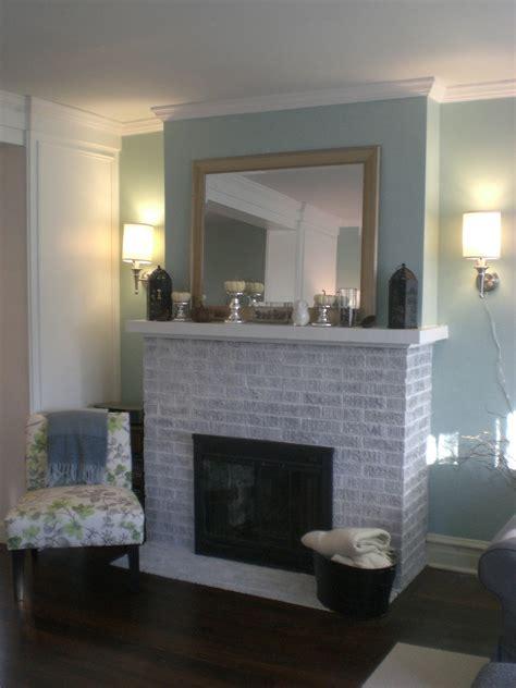 whitewashed brick fireplace fireplace makeover part 2 whitewashed brick