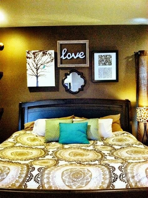 above bed decor master bed decor over the bed idea