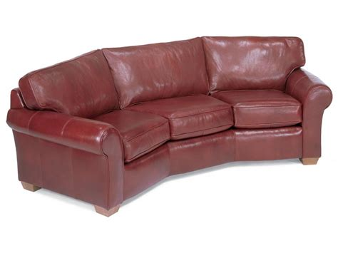 leather conversation sofa flexsteel living room leather conversation sofa 3305 323