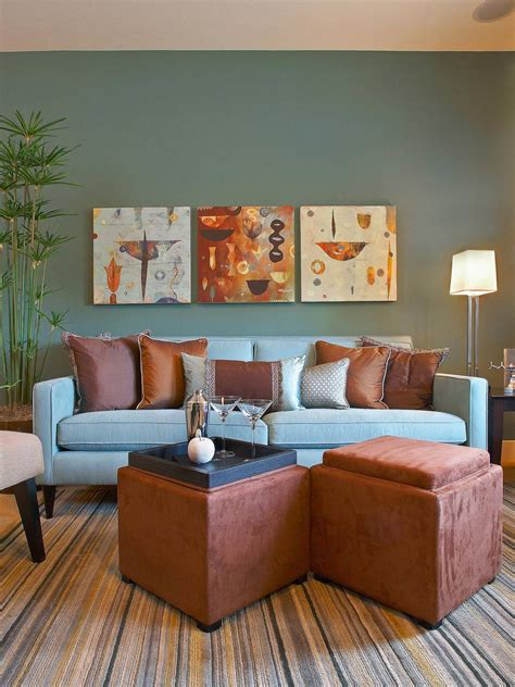 brown and blue living rooms 20 blue and brown living room designs decorating ideas