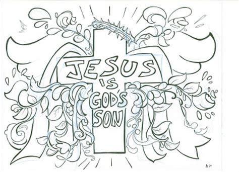 coloring page jesus of god matt