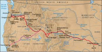 map of the oregon trail with rivers oregon trail