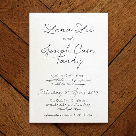 Wedding Banquet Invitation Letter letter wedding invitation set and save the date by
