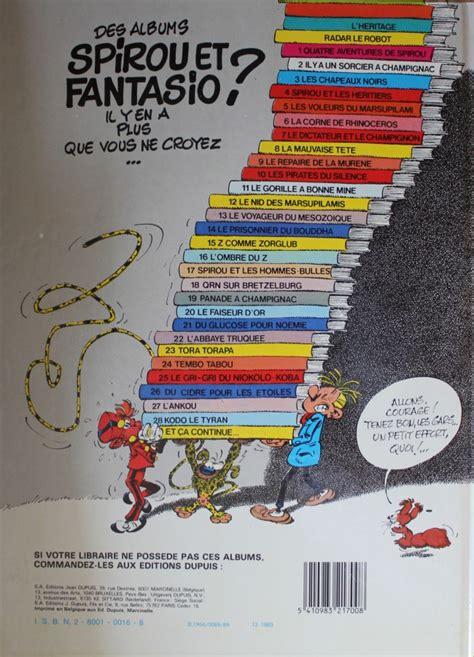 Spirou Et Fantasio 14 Le Prisonnier Du Bouddha