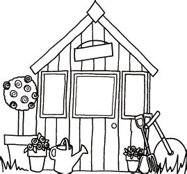 Shed Drawing by Small Garden Shed Drawings Sketch Coloring Page