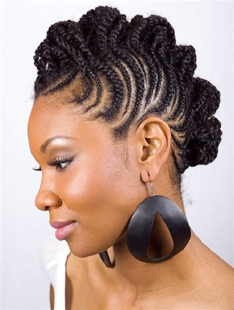 mohawk braids with american hairstyles trends and ideas braided