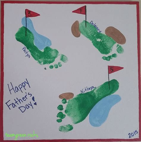fathers day footprint diy handprint and footprint s day craft