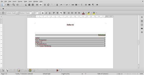 cara membuat nomor halaman di libreoffice writer tutorial cara membuat daftar isi otomatis di libreoffice