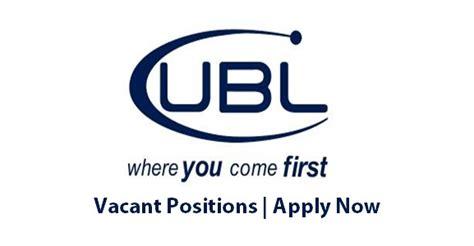 ubl united bank limited jobs auditor manager fm audit