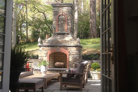 outdoor fireplaces pits in md va dc design