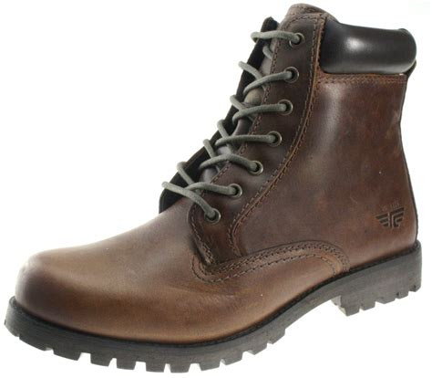 mens leather lace up ankle boots mens marsland brown smooth leather lace up