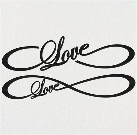 Home Garden Design Tips Free Love Infinity Dxf Files Cut Ready Cnc Designs
