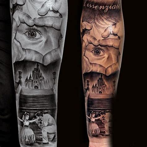 meaningful half sleeve tattoos for men affectionate and near castle family