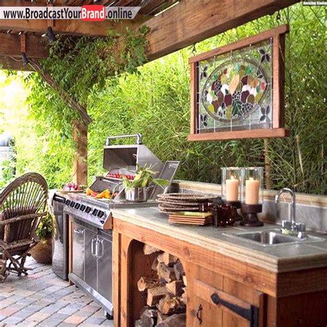 outdoor dekorieren ideen fã r offene k 252 che ideen f 252 r terrassen 252 berdachung aus holz