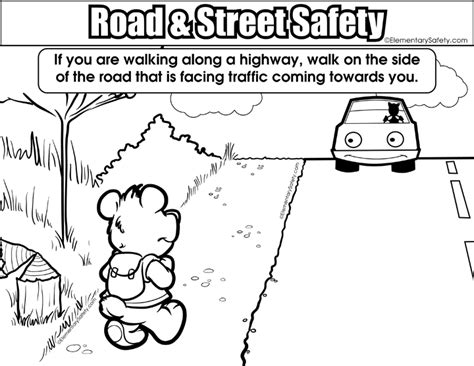 coloring road street safety