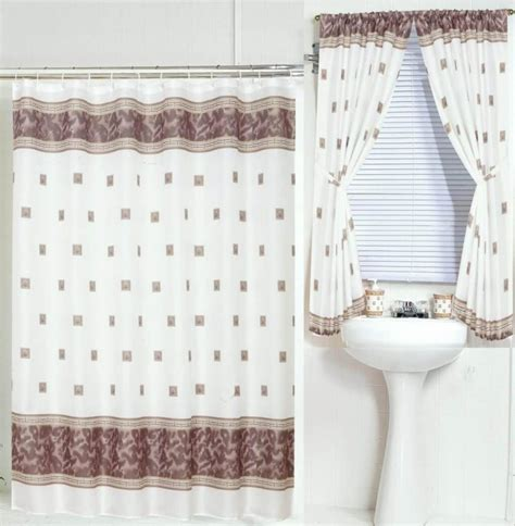 Matching Bathroom Shower And Window Curtains by Bathroom Matching Bathroom Window Curtains With Bathtub