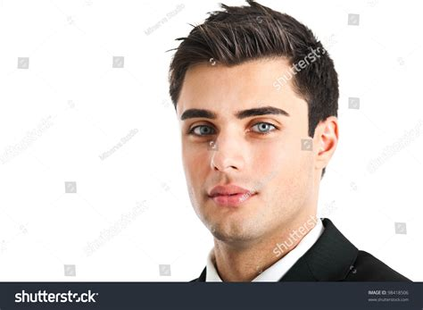 handsome actor with blue eyes very handsome businessman beautiful blue eyes stock photo