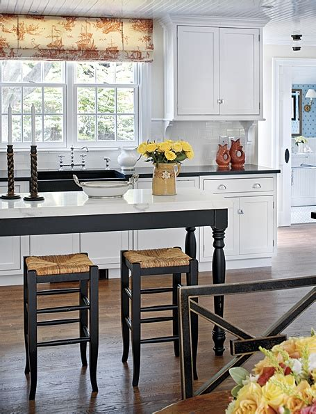narrow kitchen island narrow island it works kitchen pinterest