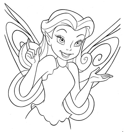 Disney Fairy Coloring Pages Coloring Page Disney