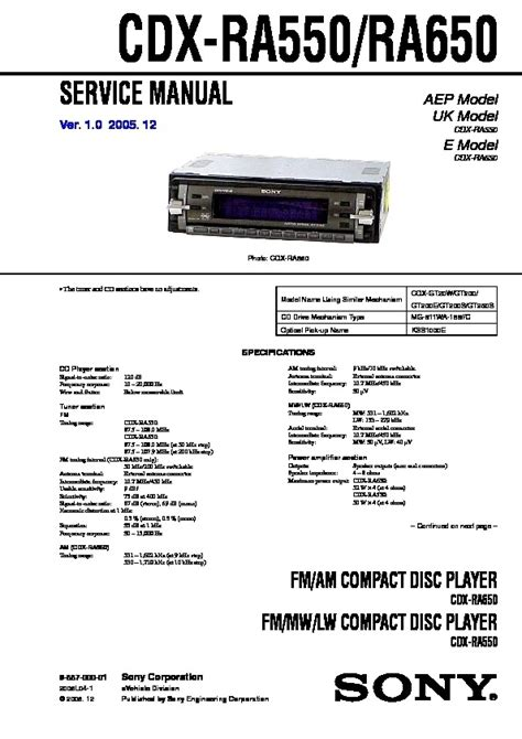 sony cdx ra700 wiring diagram 29 wiring diagram images