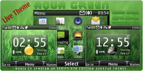 live themes download for nokia x2 aqua green live theme for nokia c3 x2 01 themereflex