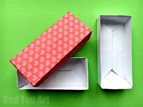 Origami Rectangular Box With Lid - easy rectangular origami box ted s