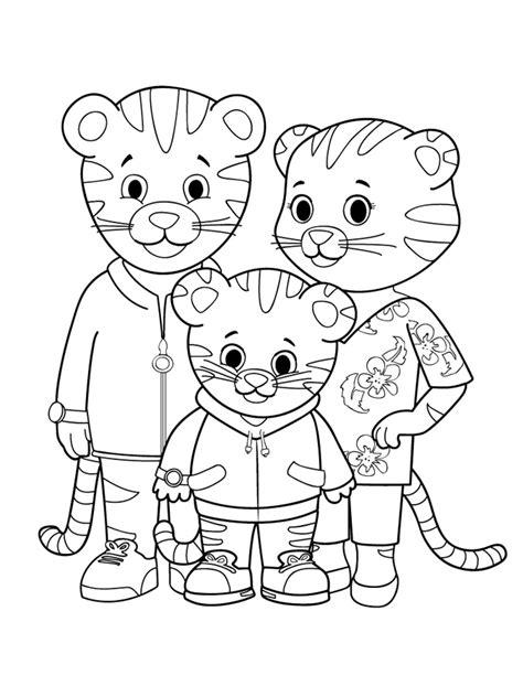 family portrait coloring page daniel tiger s neighborhood website