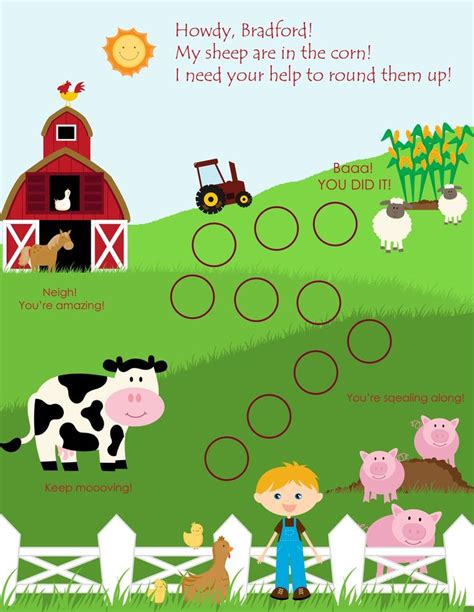 free printable animal reward charts personalized child behavior reward chart farm